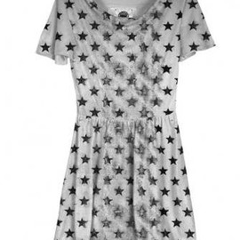 Your Eyes Lie - 2013SS Distressed Stars Skater Dress