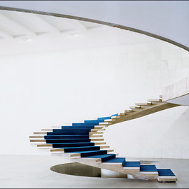 Oscar Niemeyer - Stairs with the Niteroi Contemporary Art Museum, Brazil