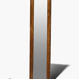 PUEBCO - Teak Wood Figure Mirror