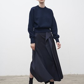 Studio Nicholson - Shaku Skirt In Dark Navy