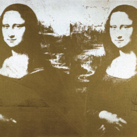 Andy Warhol - Two Golden Mona Lisas Art Print 36.5 x 24 in