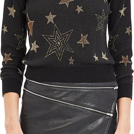 SAINT LAURENT - SS2015 Metallic Star Sweater