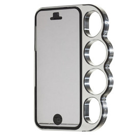 knuckle case - Classic Silver for iPhone5