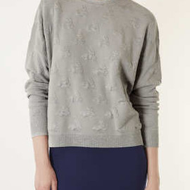 TOPSHOP - Knitted Quilted Bunny Sweater
