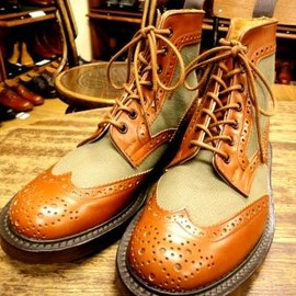 Tricker's - Tricker's × UNION WORKS / Country Brogue Boots / Combi