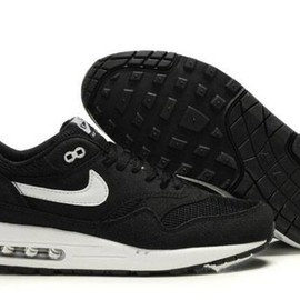 Nike Air Max 1 - Cheap Nike Air Max 1 Mens Running Shoes Black White UK Sale