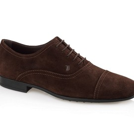 TOD'S - Lace-Up Suede Shoes