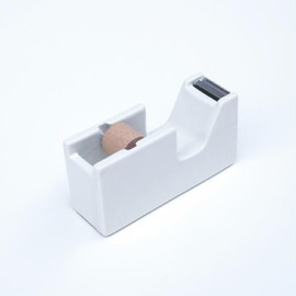 CLASSIKY ISHOW PRACTICAL PRODUCTS - WHITE PORCELAIN TAPE DISPENSER