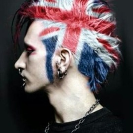 Brit punk hair