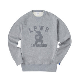"LOOPWHEELER - LW Light "" BEAR"" Slim Crew-neck Pullover"