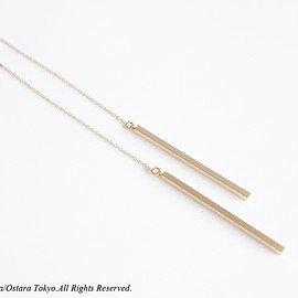 Ostara - 画像1: 【14KGF】Ear Thread Earrings,16KGP Skinny Stick