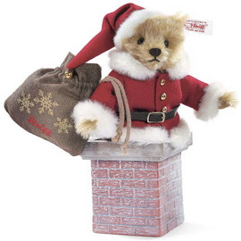 Steiff - Teddy bear Santa Claus in chimney EAN 038679 / 19cm 2008
