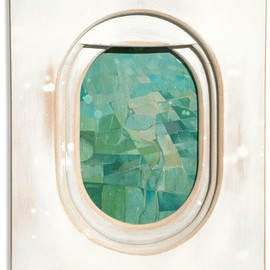 Jim Darling - Airplane Window Paintings