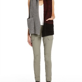 ALEXANDER WANG - Marled Color Block Long Scarf W/ Pockets Thumb