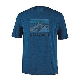 patagonia - M's Capilene® Cool Daily Graphic Shirt, Line Logo Ridge: Big Sur Blue X-Dye (LRBX)