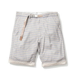 White Mountaineering - COTTON MINIMAL JACQUARD SHORTS SAX×GRAY