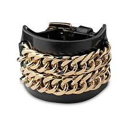 GIVENCHY - Leather and chain cuff - GIVENCHY - Bracelets - Jewellery - Accessories - Selfridges | Shop Online