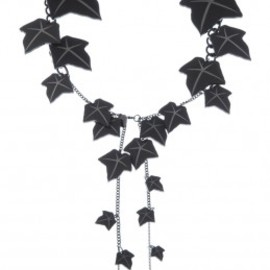 Tatty Devine - Ivy Vines Necklace - matt black