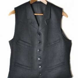 BLACK SIGN - Linen Twill Wyoming Vest