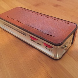 Portable transistor radio by Richard Sapper