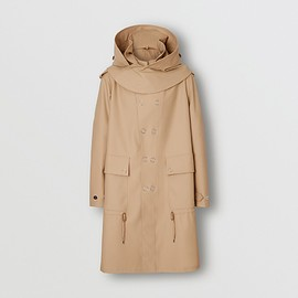BURBERRY - Detachable Hood Rubberised Parka
