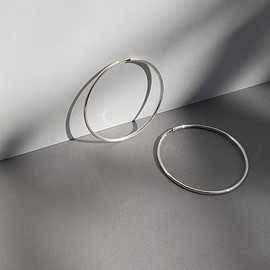 ARGUE - Silver.925 Hoop pierce(L)