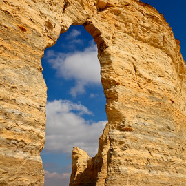 Monument Rocks National Natural Landmark, Kansas - Rock Window