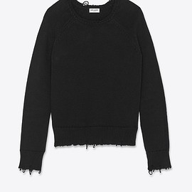 Saint Laurent - Destroyed knit sweater,