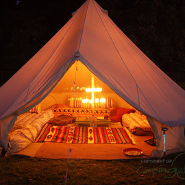 Bell Tent UK - Double Clear Tea Light Chandelier