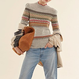 Isabel Marant - Isabel Marant Blake Fair Isle Knit Sweater