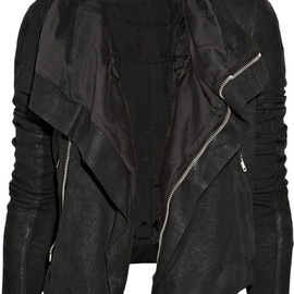Rick Owens - Blister washed-leather biker jacket