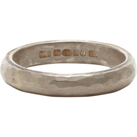 MALCOLM BETTS - Hammered Silver band