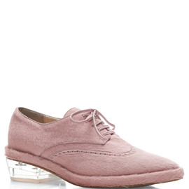 SIMONE ROCHA - Pink Pony Hair Brogues