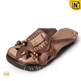 cwmalls - CWMALLS Leather Wedge Sandals CW306205