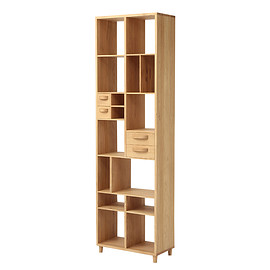 THE CONRAN SHOP - ETHNICRAFT OAK PIROUETTE BOOKRACK