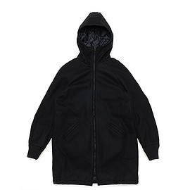 SKOOKUM - LOFTMAN別注 Zip Hood Coat-Black