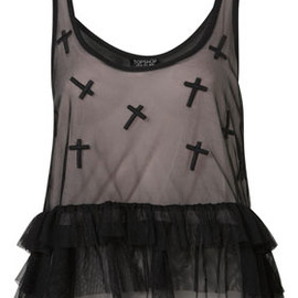 TOPSHOP - Applique Cross Tiered Cami