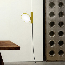 "Konstantin Grcic for Flos - ""OK lamp"" surrounded by Jean Prouve masterpieces"