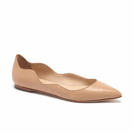 Loeffler Randall - Milla scallop flats buff leather
