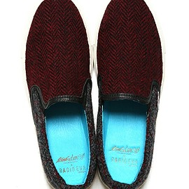 H.P.FRANCE - Revelations/EVA × HarrisTweed CRAZY SLIP-ON(スニーカー)|ブルー
