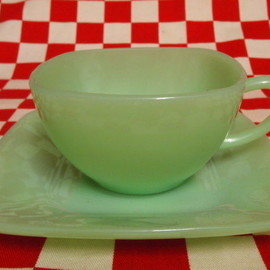 Jadeite Magic Gallery - Fire King Jadeite Charm Cup & Saucer (6)