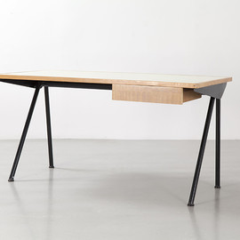 Jean Prouve - Compass Antony desk with tube legs, ca 1953