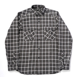 bal - CHARCOAL PLAID SAFARI SHIRT