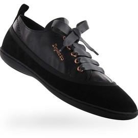 Repetto - Sneaker Podium Black Lambskin and Goatskin suede