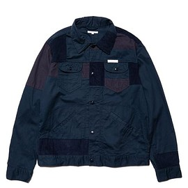 Engineered Garments - 6.5oz Flat Twill Trucker Jacket Navy