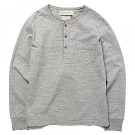 REMI RELIEF - ◇REMI RELIEF×BEAMS PLUS / 別注 ロングスリーブ ヘンリーネックTシャツ