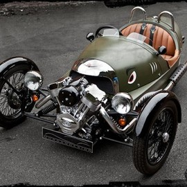 Morgan Builds Steampunk Three-Wheeler