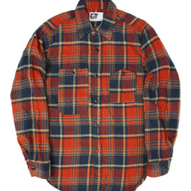 Engineered Garments - Work Shirt Navy/Red/White Flannel Plaid