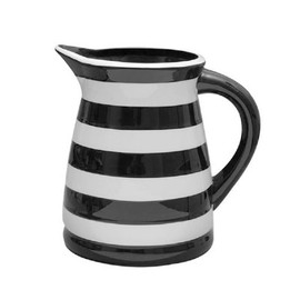 Terramoto Ceramic - Black  Stripes Large Pitcher