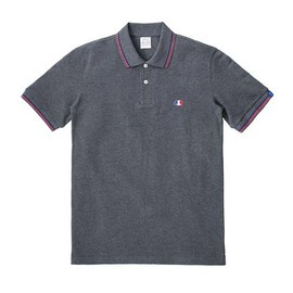 LOOPWHEELER - Shake kuma polo shirt